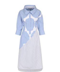 Stella Mccartney | Платье-Рубашка В Полоску С Укороченными Рукавами