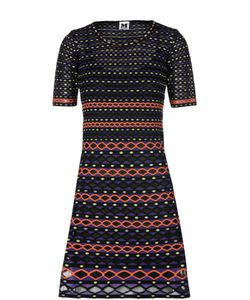 Missoni | Вязаное Мини-Платье С Контрастным Принтом M