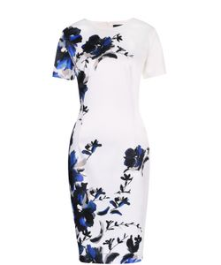 St. John | Приталенное Платье С Цветочным Принтом