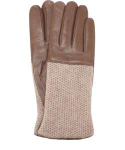 Sermoneta Gloves | Кожаные Перчатки С Вязаной Отделкой Из Кашемира