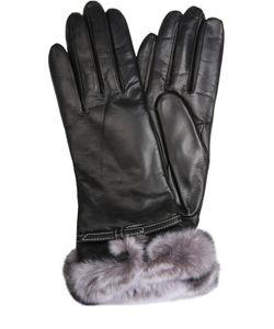 Sermoneta Gloves | Кожаные Перчатки С Отделкой Из Меха Кролика