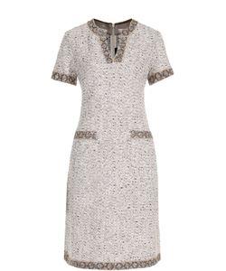 St. John | Буклированное Платье-Миди С Карманами