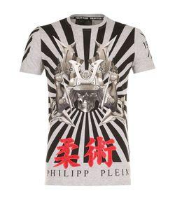 Philipp Plein   Хлопковая Футболка С Контрастным Принтом
