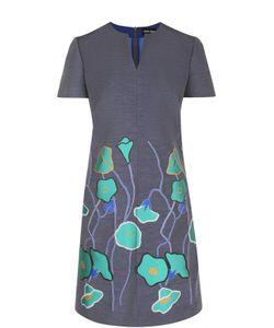 Giorgio Armani | Приталенное Мини-Платье С Цветочным Принтом