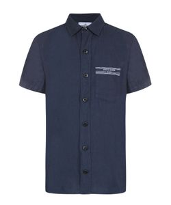 Stone Island | Льняная Рубашка С Короткими Рукавами