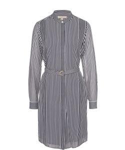 Michael Michael Kors | Платье-Рубашка В Контрастную Полоску С Поясом