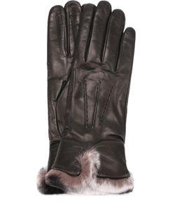 Sermoneta Gloves | Кожаные Перчатки С Меховой Отделкой