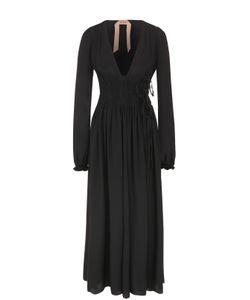 No. 21 | Приталенное Платье-Макси С V-Образным Вырезом