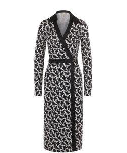 Diane Von Furstenberg | Шелковое Платье С Запахом И Контрастным Принтом