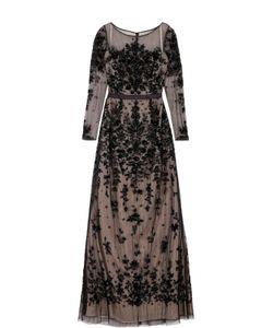 Basix Black Label | Приталенное Платье-Макси Без Рукавов С Вышивкой