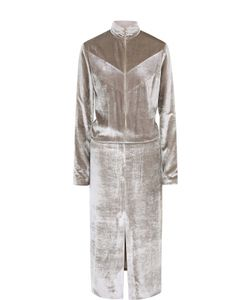 Nina Ricci | Приталенное Бархатное Платье На Молнии