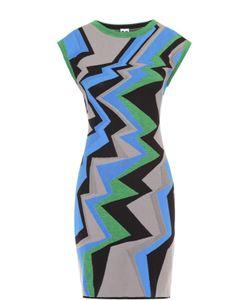 Missoni | Приталенное Платье Без Рукавов С Контрастным Принтом M