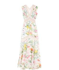 Tadashi Shoji | Платье С Цветочным Принтом И Кружевными Вставками