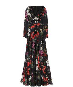 Escada | Шелковое Платье-Макси С Цветочным Принтом
