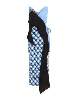 Diane Von Furstenberg | Шелковое Платье Асимметричного Кроя С Запахом