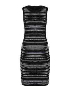 St. John | Буклированное Платье Без Рукавов С Контрастной Отделкой