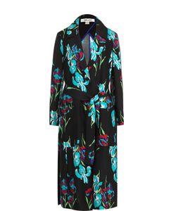 Diane Von Furstenberg   Шелковое Пальто С Ярким Принтом И Поясом
