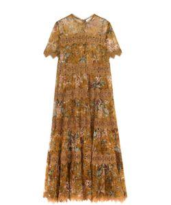 Zimmermann | Приталенное Платье-Макси С Цветочным Принтом
