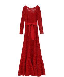 Escada | Приталенное Кружевное Платье С Открытой Спиной