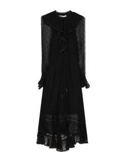 Zimmermann | Шелковое Платье-Миди С Оборками