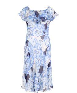 Polo Ralph Lauren | Шелковое Платье С Цветочным Принтом И Открытыми Плечами