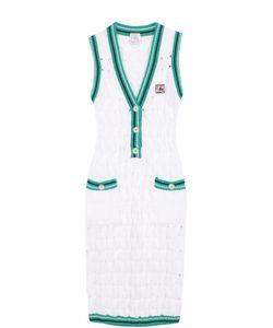 Stella Jean | Облегающее Вязаное Платье Без Рукавов