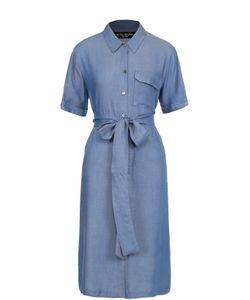 Pietro Brunelli   Джинсовое Платье-Рубашка С Поясом