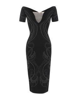 Alice McCall | Платье-Футляр С Открытыми Плечами И Металлизированной Отделкой