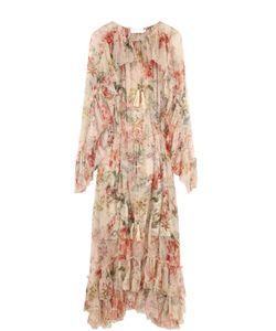Zimmermann | Платье-Миди С Цветочным Принтом И Оборками