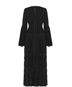 Elie Saab | Платье С Кружевной Полупрозрачной Юбкой И Бантом