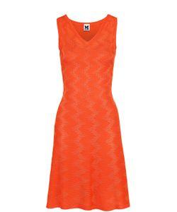 Missoni | Приталенное Платье Фактурной Вязки Без Рукавов M