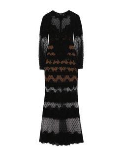Elie Saab | Приталенное Кружевное Платье-Макси