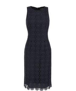 St. John | Кружевное Приталенное Платье Без Рукавов
