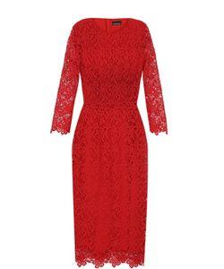 Ermanno Scervino | Кружевное Платье-Футляр С Укороченными Рукавами