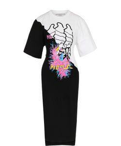 Stella Mccartney | Приталенное Платье С Укороченным Рукавом И Ярким Принтом