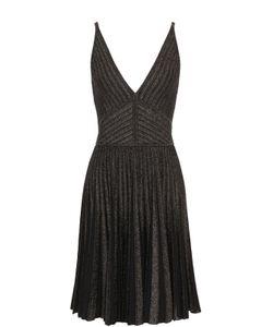 Elie Saab | Платье С Плиссированной Юбкой И Металлизированной Отделкой