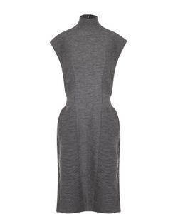 Giorgio Armani | Приталенное Вязаное Платье-Миди С Высоким Воротником