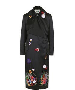 Fendi | Пальто Прямого Кроя С Декоративной Отделкой