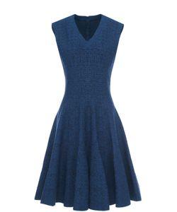 Alaïa | Мини-Платье С Фактурной Отделкой И V-Образным Вырезом