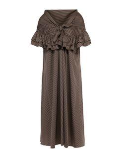 Isa Arfen | Платье Прямого Кроя В Полоску С Открытыми Плечами
