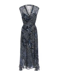 Polo Ralph Lauren | Шелковое Платье-Миди С Принтом И Поясом