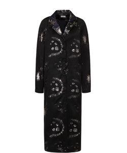 Dries Van Noten | Пальто Прямого Кроя С Металлизированным Принтом