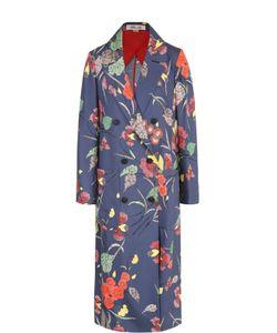 Diane Von Furstenberg   Шелковое Пальто С Цветочным Принтом