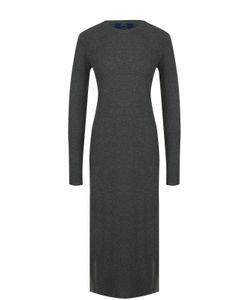 Polo Ralph Lauren | Шерстяное Платье-Миди С Длинным Рукавом