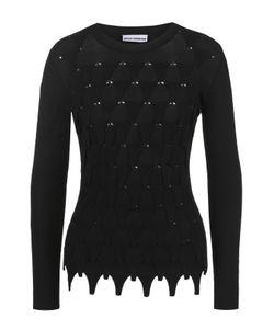 Paco Rabanne | Облегающий Пуловер С Круглым Вырезом И Фактурной Отделкой