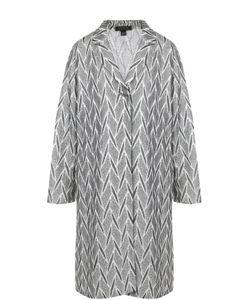 St. John   Вязаное Пальто Прямого Кроя С Принтом