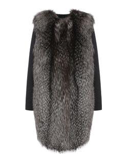 Yves Salomon | Пальто Из Смеси Шерсти И Кашемира И Отделкой Из Меха Лисы
