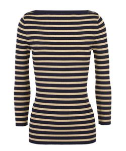 Michael Kors | Облегающий Пуловер В Контрастную Полоску С Вырезом-Лодочка