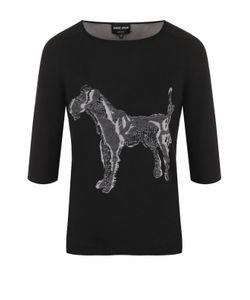 Giorgio Armani | Кашемировый Пуловер С Принтом И Укороченным Рукавом