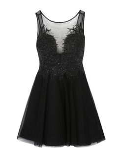 Basix Black Label | Приталенное Мини-Платье С Вышивкой И Открытой Спиной